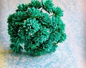 Teal blue green Dahlias Vintage style Millinery Flower Bouquet - for decorating, gift wrapping, weddings, party supply, holiday