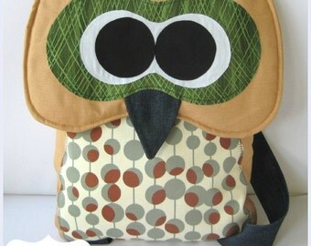 Owl Backpack Pattern -INSTANT Download PDF File
