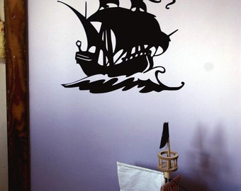 Pirate Ship Vinyl Wall Decal custom decal for Tammy