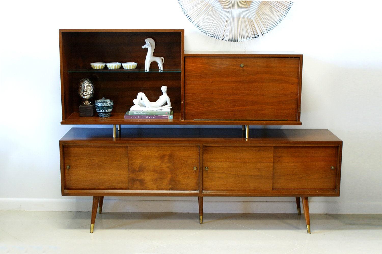 Mid Century Bar Cabinet Danish Modern