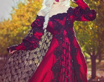 Ever After Fantasy Medieval or Princess Custom Color Fabric Size Gown & Cape