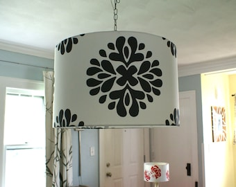 Custom drum pendant lights- now FREE SHIPPING!