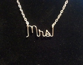 Silver Wire MRS Necklace