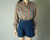 vintage 80s ABSTRACT GIVENCHY BLOUSE womens s/m