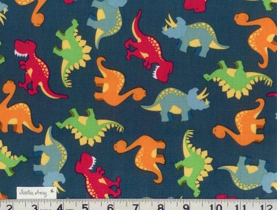Alisha on etsy for Kids dinosaur fabric