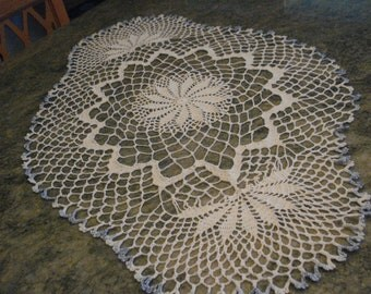 Large white hand made doily