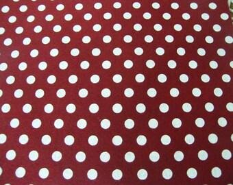 Red Christmas  Polka Dots Felt Printed Felt Sheet