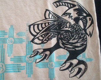 Hemp Mens T-shirt Psychedelic Bird Om Zia
