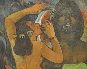 The Moon and the Earth by Gauguin - an Original 1954 Art Print