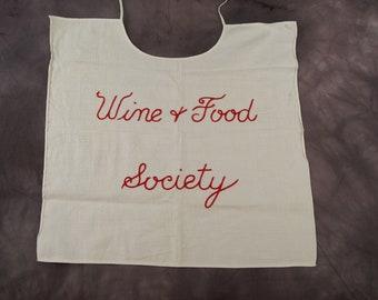 Vintage Wine and Food Society Bib