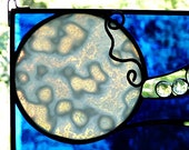 Once in a Blue Moon Stained Glass Panel