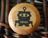 Wooden Yo-Yo  -  Blip the Robot
