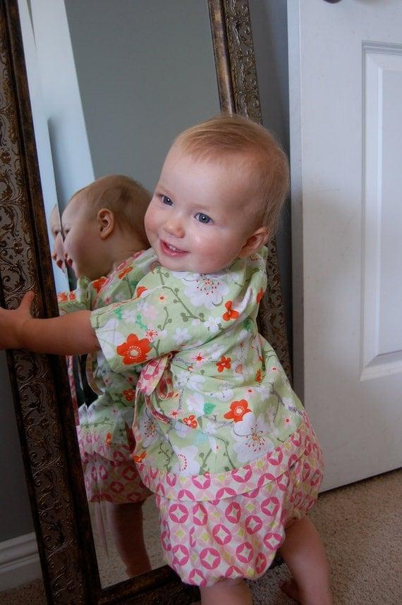 Baby Kimono - The Original LivvySue Kimono Bloomer Set in Kate Spain Good Fortune- Sizes 0-6 mth, 6-12 mth, 12-18 mth, 18-24 mth 2T