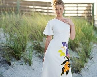 Hawaiian Wedding Dress One Shoulder was 599.00 now 399.00