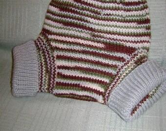 MEDIUM - LARGE HARMONY hand knit wool diaper soaker