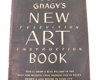 vintage mid century new television art instruction book by  Jon Gnagy art book drawing book