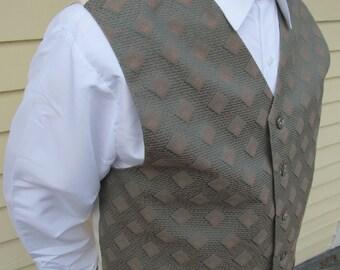 Sage Green Menswear Diamond Field 6 Button Fashion Vest