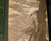 Jane Eyre and Wuthering Heights - Bronte - Fritz Eichenberg illustrations - 1943 - Two books
