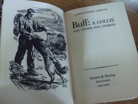 Buff:  A Collie, and Other Dog Stories - Albert Payson Terhune - Est. 1950's printing