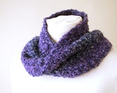 Purple Ombre Infinity Scarf - Handmade Crochet Ombre Moebius Cowl - Circle Scarf