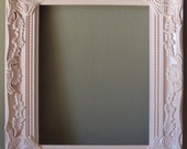 Shabby Cottage Paris Chic Picture Frame Open Frame SOFT PINK Wall Gallery Frame Vintage Inspired Ornate Romantic Cottage 8x10