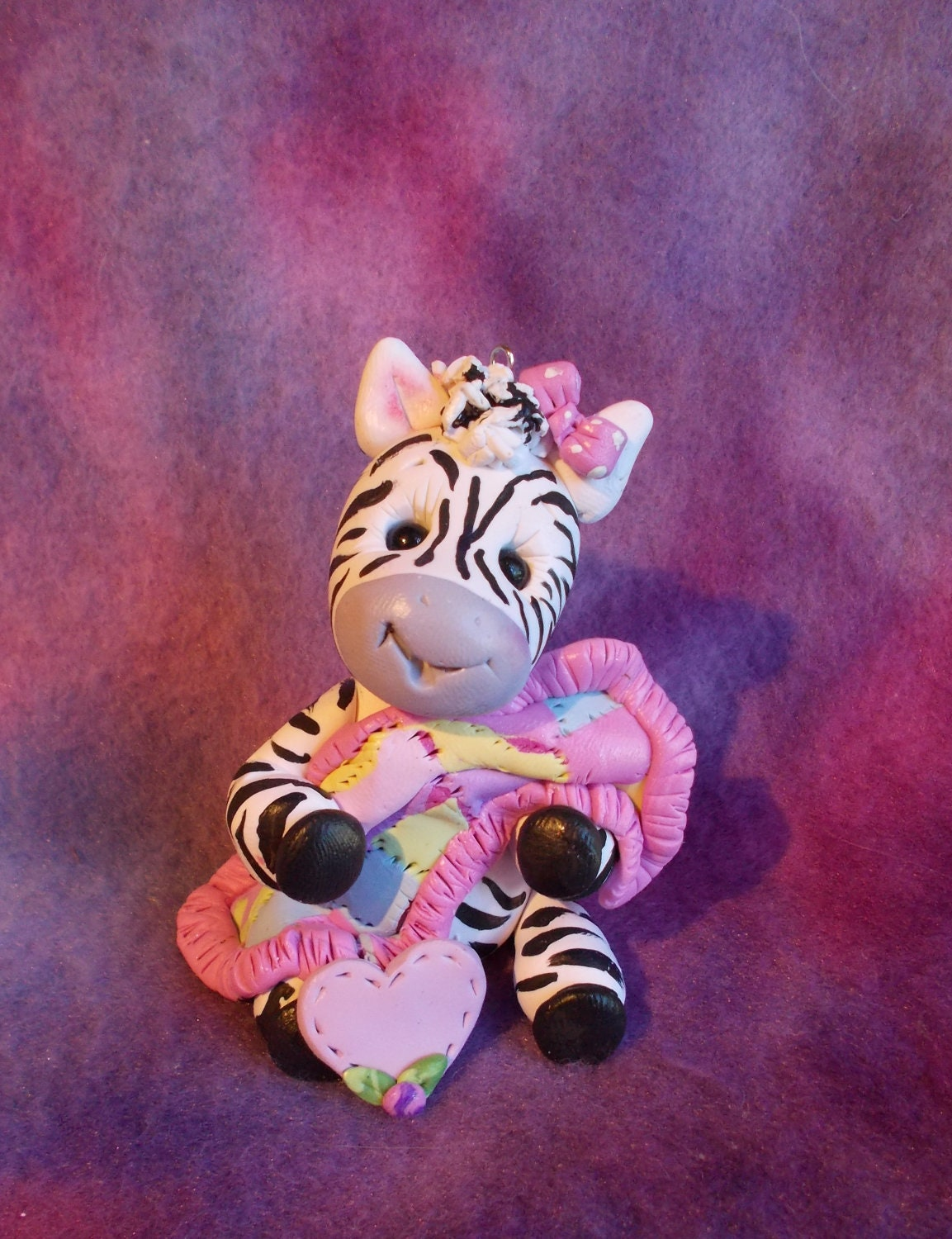 zebra baby shower cake topper christmas ornament by clayqts