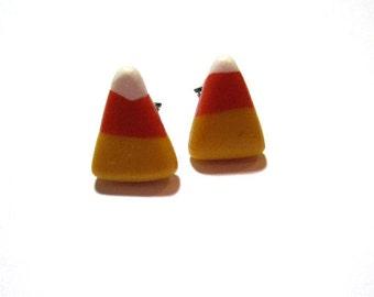 Candy Corn Stud Earrings- Surgical Steel
