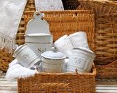 Lovely French Farm House Picnic Basket........