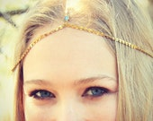 CHAIN HEADPIECE- head chain headdress chain headpiece