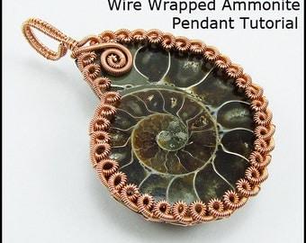 Wire Wrapped Ammonite Pendant Tutorial