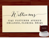 Custom Personalized  SELF INKING Return Address Rubber Stamp - style 1172J- cute wedding or christmas gift