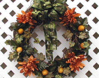 Spring Floral Wreath - Summer Floral Wreath - Floral Wreath - Spring Wreath - Summer Wreath - Front Door Wreath - Wreath - Grapevine Wreath