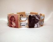 BORDER COLLIE Bracelet / SCRABBLE / Upcycled Handmade Jewelry / Dog Lover - 2
