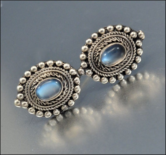 Moonstone Sterling Silver Brooch Antique Jewelry Arts and Crafts Vintage Jewelry 1900