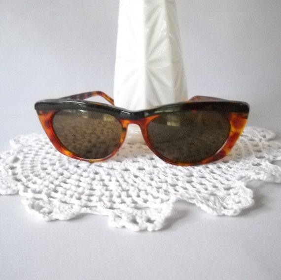 Vintage Sunglasses Tortoise Shell Sunglasses Cat Eye Glasses