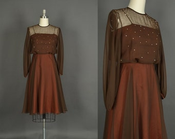 Vintage 1970s Dress - 70s Dress - 1970s Lilli Diamond rhinestone dress