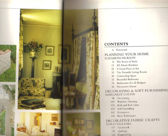 Book The Laura Ashley Book Of Decorating 1985 Fabric Crafts