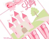 NEW - Custom Handpainted Boutique Childrens Hair Bow Holder Personalized Princess Castle - EXTRA LARGE