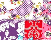 Cotton fabric, patchwork fabric, flowers fabric, floral fabric, purple fabric, Shabby Chic Birds and Blooms Fresh Purple