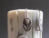 Sterling PMC Clay Tulip Earrings