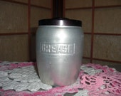 Mid Century kitchen Grease Container Aluminum