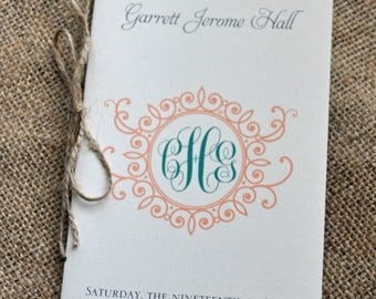 200 Vintage Booklet-Styled Wedding Program