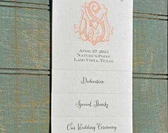 100 Vintage Tiered Wedding Programs