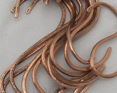 "Copper ""S"" Hooks. Pot Rack Hooks. Copper Hooks. Kitchen Hooks. (Set of 8 )Eight."