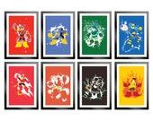 Robot Masters of Mega Man 2 COMPLETE SET - 8 Posters
