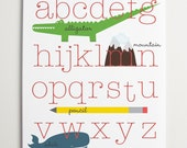 ABC's Alphabet Art by ModernPOP - Art for baby room - Playroom wall decor - Baby Shower Gift