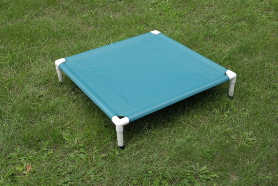 Dog bed pvc cot off the ground beds cat bed sale canvas teal for Beds 80 off