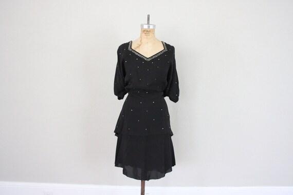 1950s Dress // Vintage Little Black Dress // Mid Century Dress // Vintage Cocktail Dress