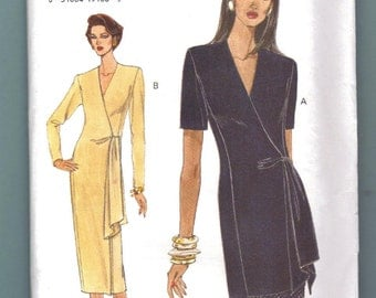 Very Easy Vogue 8976 Dress Top & Skirt Sewing Pattern Misses Size 8 10 12 UNCUT