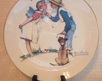Vintage Norman Rockwell Collectible Plates, Young Love - Four Seasons, 1972, Buy One or All, Wall Art, Decorative Plates, Gorham Fine China